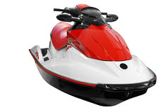 Fast jet ski isolated Stock Images