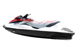 Fast jet ski isolated Royalty Free Stock Photos