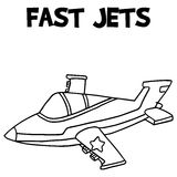 Fast jets with hand draw Royalty Free Stock Images
