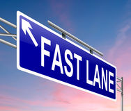 Fast lane concept. Royalty Free Stock Photo