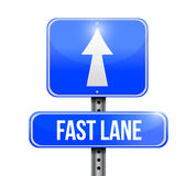 Fast lane road sign illustration design Stock Photos