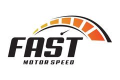 Fast logo. Logo design of speedometer in fast speed Royalty Free Stock Photography