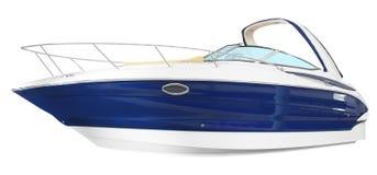 Fast luxury yacht Stock Image