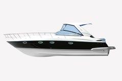 Fast luxury yacht isolated Royalty Free Stock Image