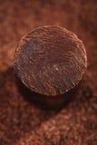 Fast mörkerchoklad 100% Arkivfoton