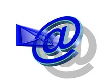 Fast mail. E-mail, as a way of instant dialogue Royalty Free Illustration