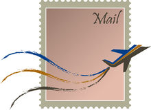 Fast mail stamp stock illustration