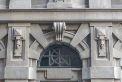 Fast meddelande i arkitektur Royaltyfri Foto
