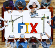 Fast mekanisk reparationslösningstekniker Maintenance Concept Royaltyfria Foton