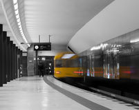Fast metro train Berlin Stock Image
