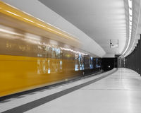 Fast metro train Berlin Stock Photo