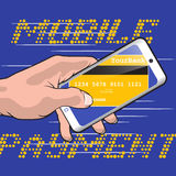 Fast Mobile Payment Stock Photo