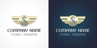 Fast money transfer vector logo, icon. Template design element with dollar sign for global cash money transfer Stock Photo