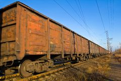 Fast mooving cargo carriage Stock Photo