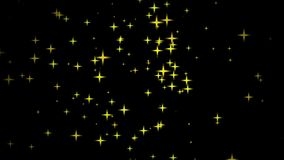 Fast motion of stars on black backgrounds Royalty Free Stock Photos