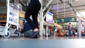 Fast motion of YVR airport terminal stock video footage