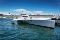 Fast motor yacht Royalty Free Stock Photo