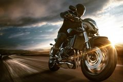 Free Fast Motorbike On The Road Royalty Free Stock Photography - 168601617