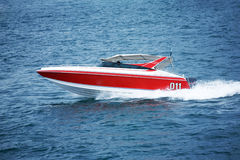 Fast motorboat. A photo of a speed motor boat royalty free stock photos
