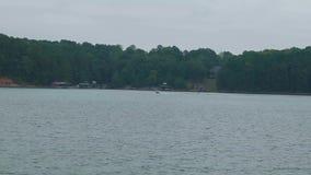 Water skiing on the lake