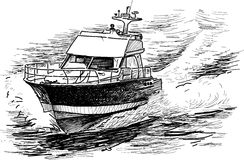 Fast motorboat Stock Images