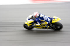 Fast motorcycle racer on track Royalty Free Stock Photo