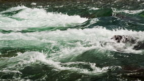 Fast Mountain River Water Flow. Close up stock video