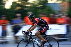 Fast moving bike Stock Photography