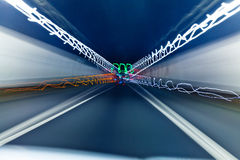 Fast-moving blur tunnel Royalty Free Stock Photo