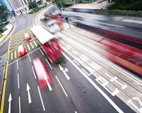 Fast moving bus Royalty Free Stock Images