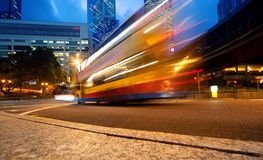 Fast moving bus at night. Picture of a Fast moving bus at night Stock Photos