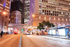 Fast moving bus at night. Picture of a Fast moving bus at night Royalty Free Stock Photo