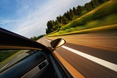 Fast moving car. Picture of a fast moving car Royalty Free Stock Photography