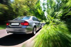 Fast moving car Royalty Free Stock Photo