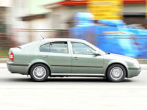 Fast moving car Royalty Free Stock Photography