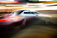Fast moving car Royalty Free Stock Images