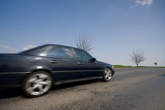 Fast moving car Royalty Free Stock Image
