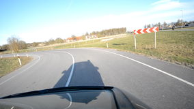 Fast moving car stock video footage