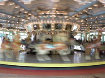 Fast moving carousel at Glen Echo park Royalty Free Stock Photos