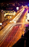 Fast moving cars at night Royalty Free Stock Photography