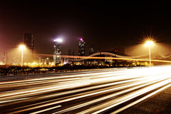Fast moving cars Royalty Free Stock Images