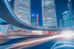 Fast moving cars at night Stock Photography