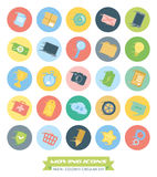 Fast Moving Circular Icons Collection Stock Photos
