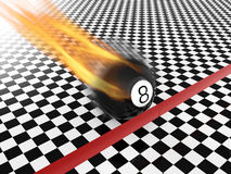 Fast moving eight ball Royalty Free Stock Photo