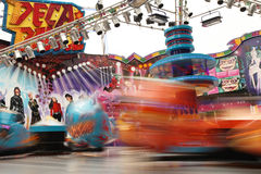 Fast moving funfair Stock Images