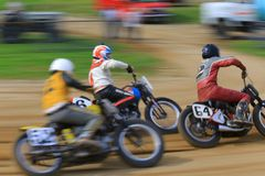 Fast moving motorcycles Royalty Free Stock Photo