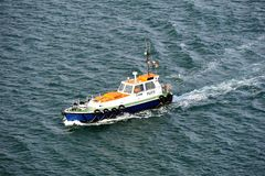 Fast moving Pilot Boat Stock Images