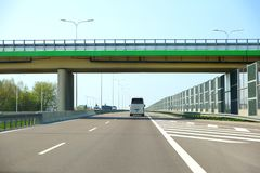 The fast-moving route as the beltway of the city of Lublin. stock photography