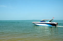 Fast moving speed boat Stock Photography
