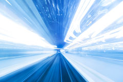 Fast moving toward the light. Royalty Free Stock Photography